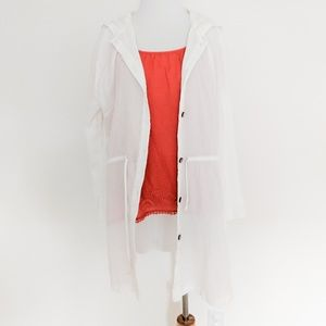 White Cotton Gauze Cover-Up